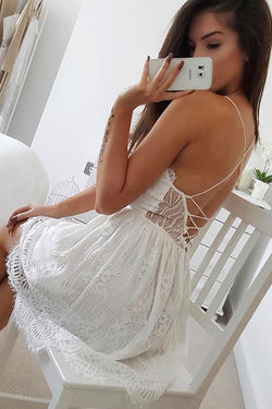 Lacy Lady Cross Back Mini Dress