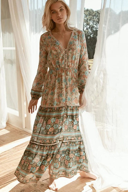 Lost in Garden Maxi Dress