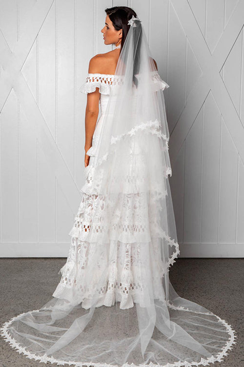 You're the One White Lace Maxi Dress