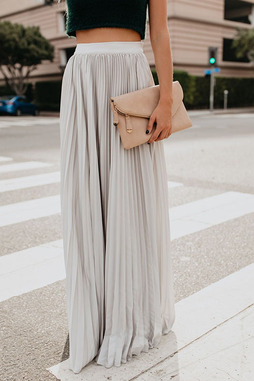 Love Poem Pleated Maxi Skirt