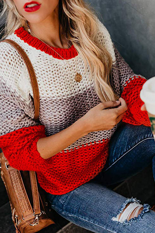 Morning Chill Multi Striped Sweater