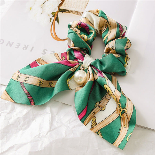 Chiffon Bowknot Silk Hair Scrunchies - UnikWe Boutique