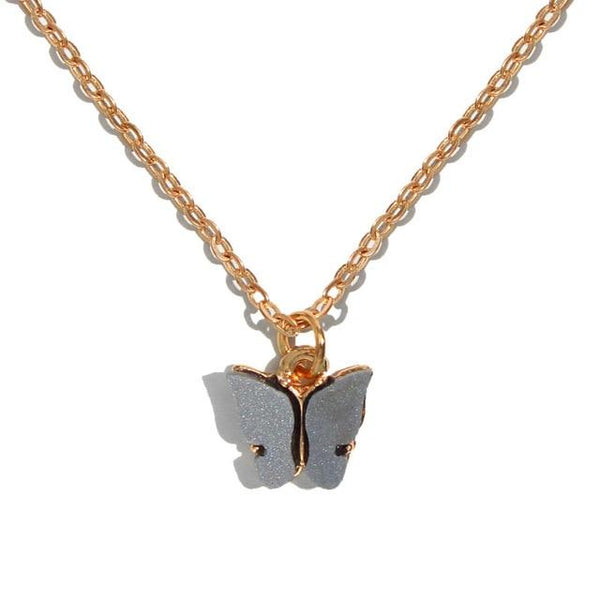 Butterfly Necklace Gold Color Pendant