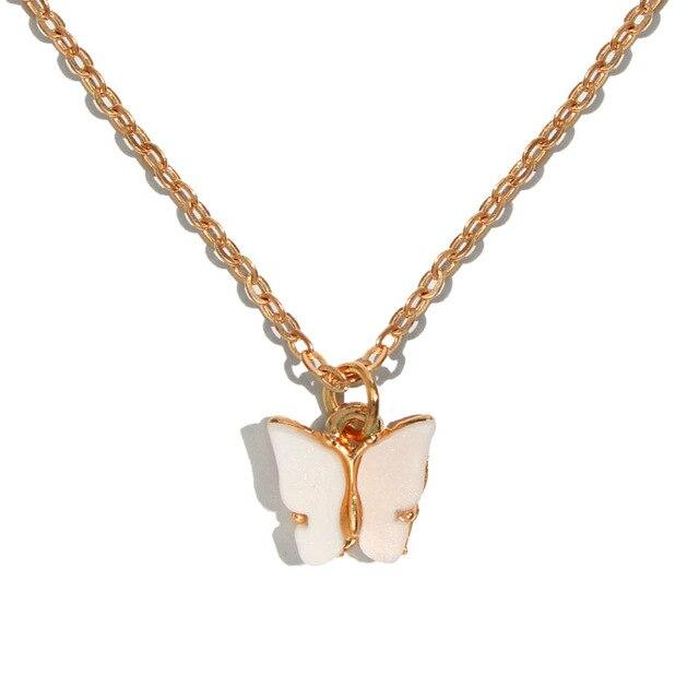Butterfly Necklace Gold Color Pendant - UnikWe Boutique