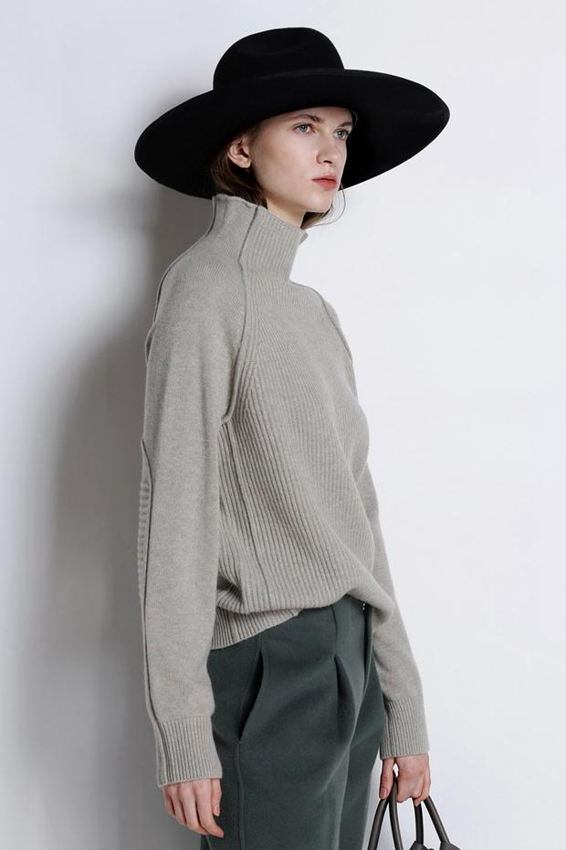 Lori Funnel Turtleneck Wool Sweater - 4 Colors