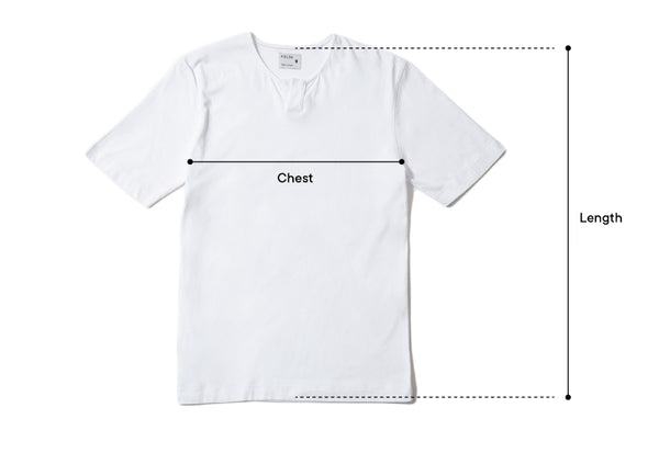 Tee size reference guide