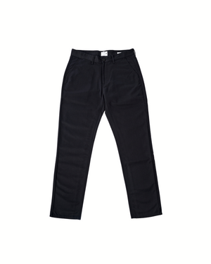 The Cotton Twill Straight Leg Trouser in Black Beauty