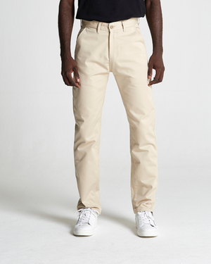 The Cotton Twill Straight Leg Trouser in Oxford Tan