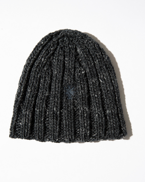 The Wool and Linen Beanie in Black Beauty