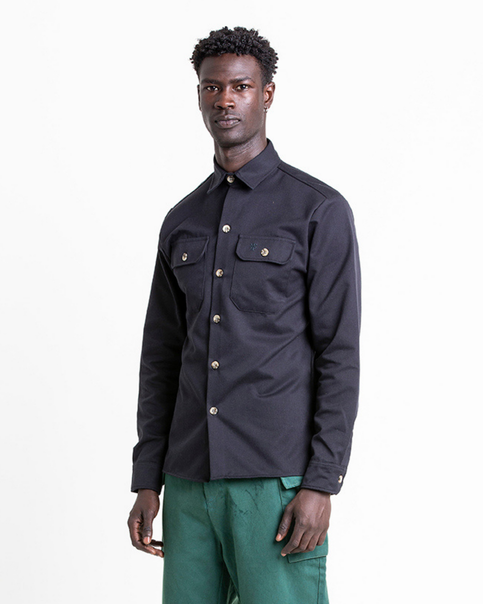 The FIELD Shirt in Black Beauty