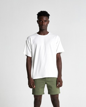 The Cotton Box Tee in Sea Salt (Off White)