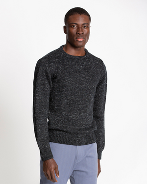 The 1kg Wool & Linen Sweater in Black Beauty