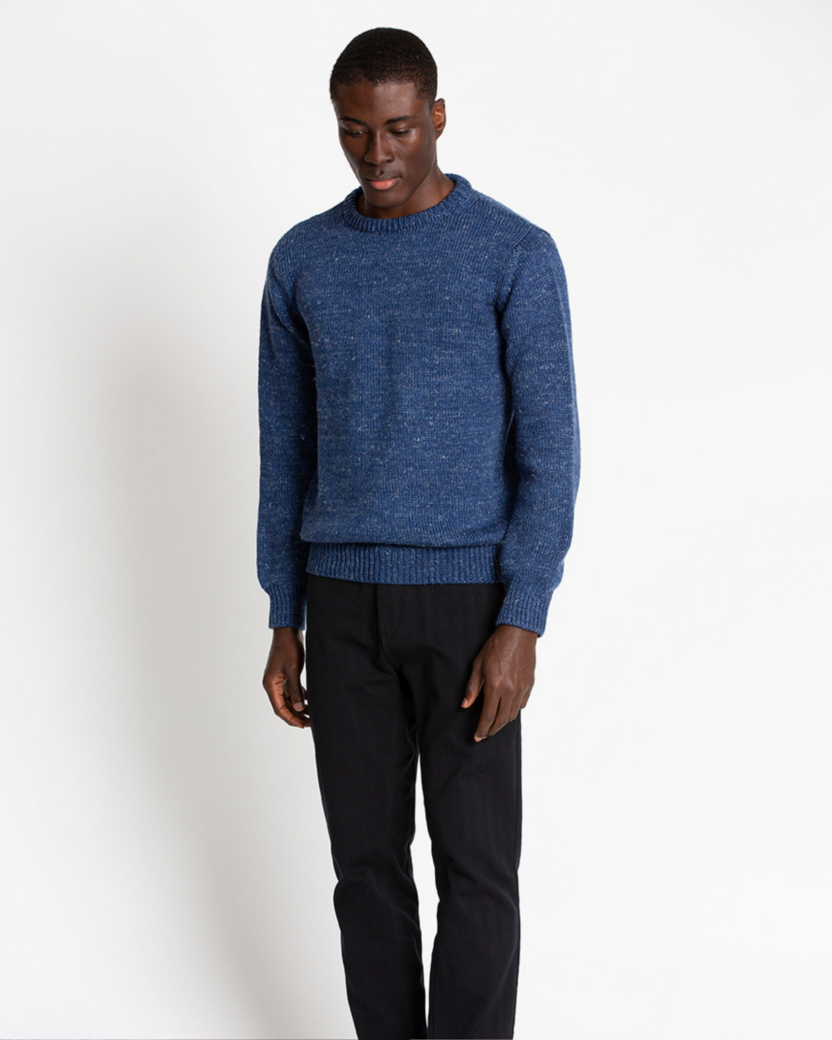 The 1kg Wool & Linen Sweater in Estate Blue