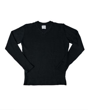 Wool & Mohair V-Neck Sweater (Summer) - Black Beauty