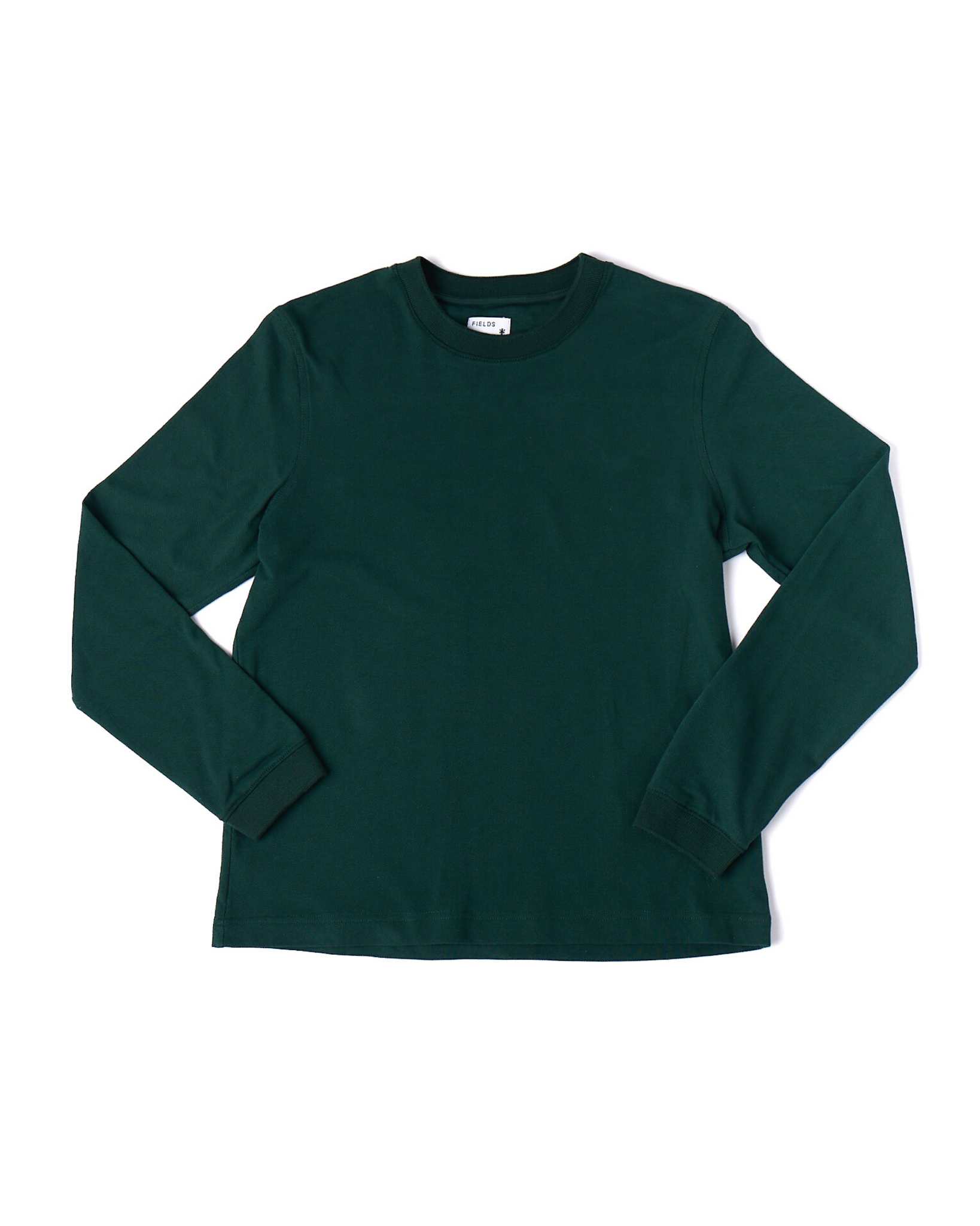 The Cotton Long Sleeve Pique tee in Pine Grove