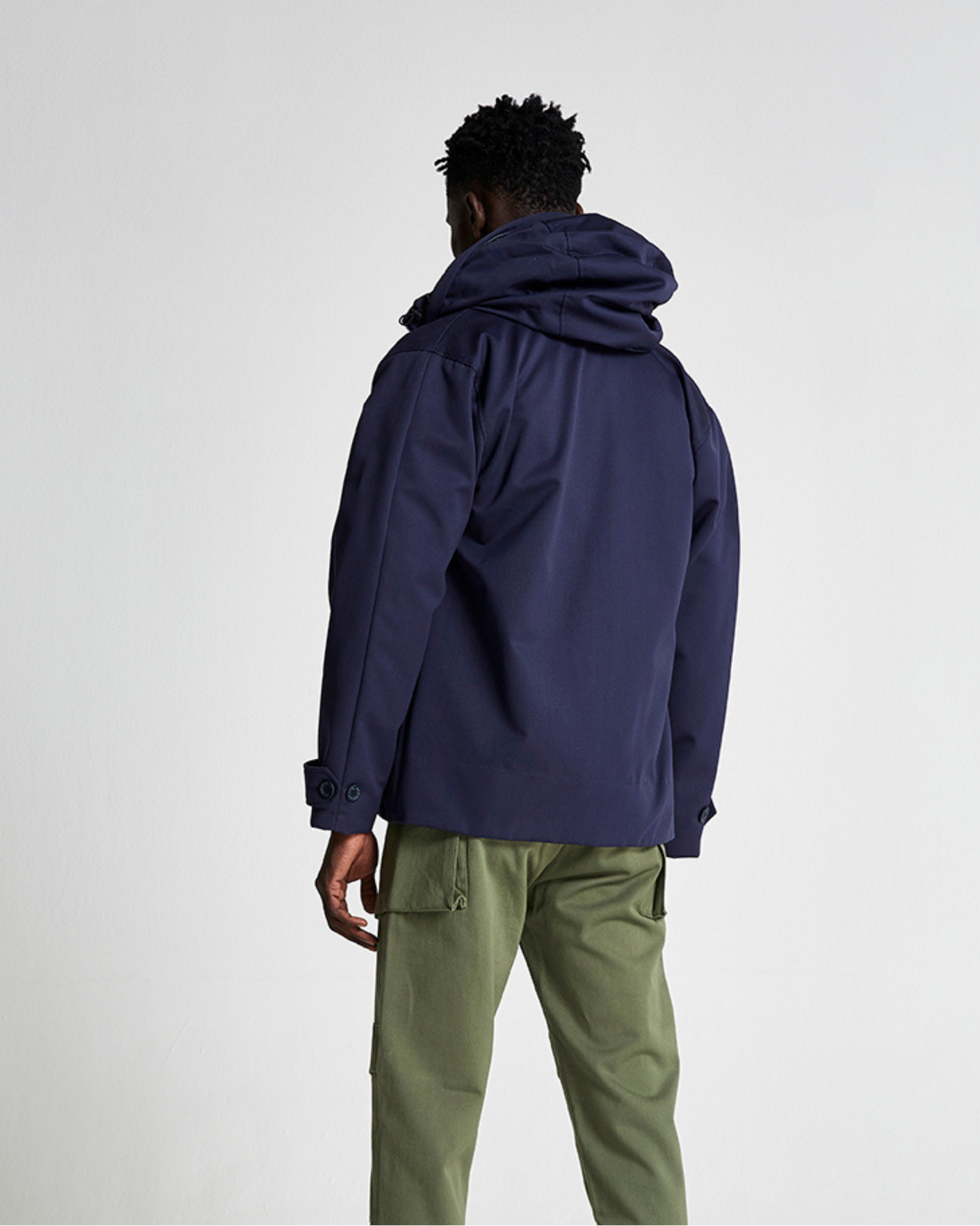 The FIELD Jacket Collaboration with Themba Khumalo in Black Iris (Navy)