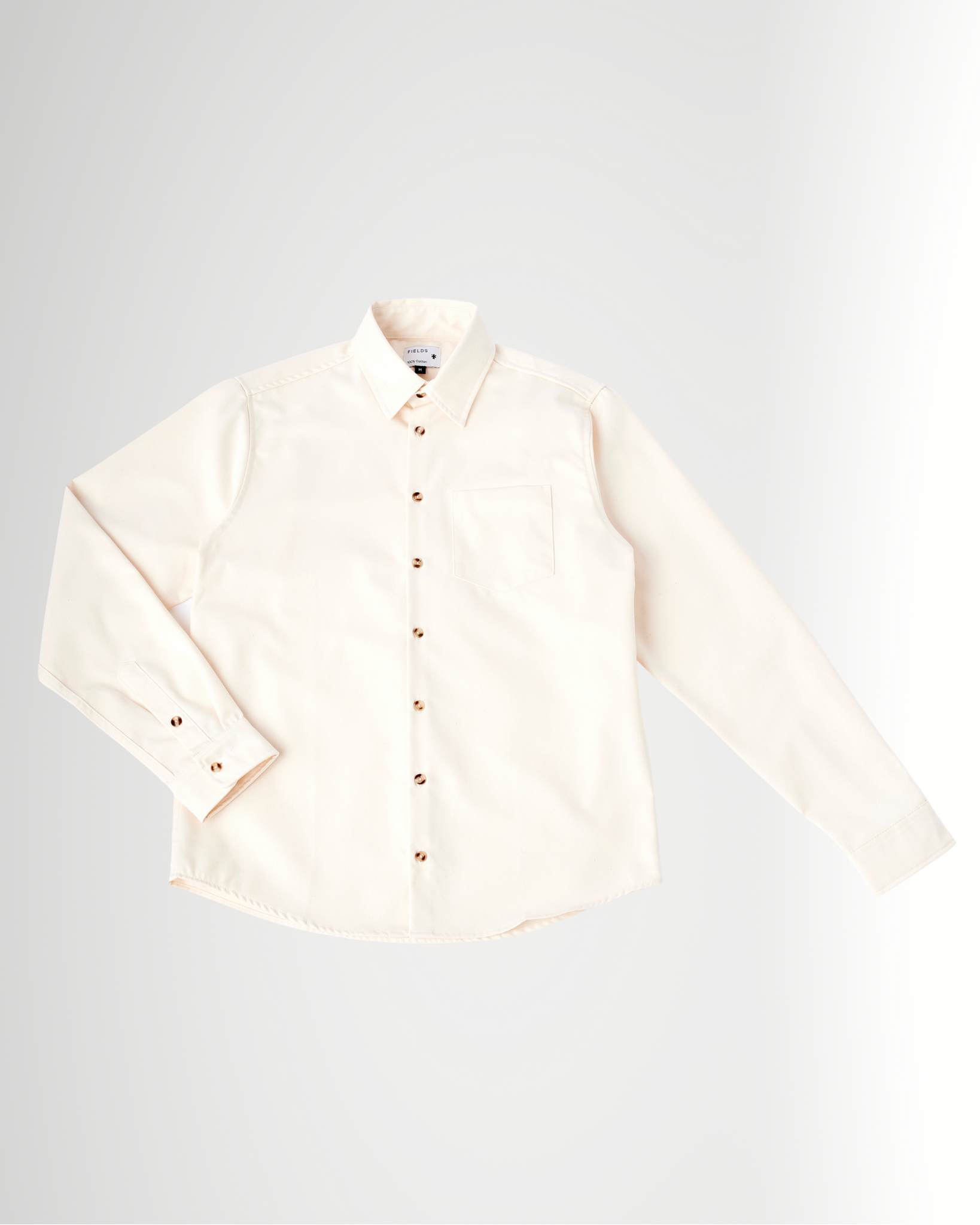 The 1 Pocket Cotton Shirt in Buttercream