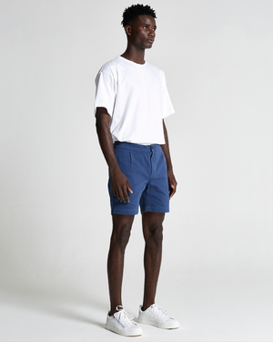 The Relaxed Cotton Short in Dark Denim