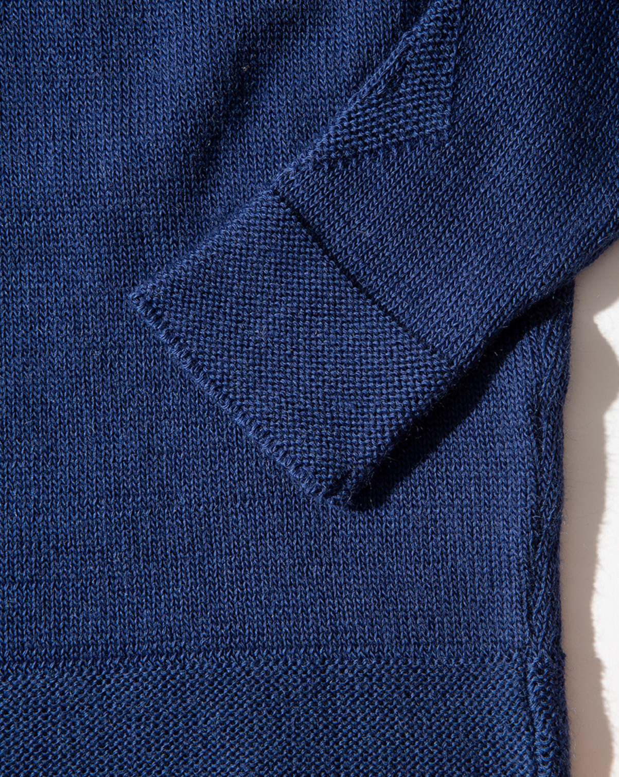 Wool & Mohair V-Neck Sweater - Blue Depths