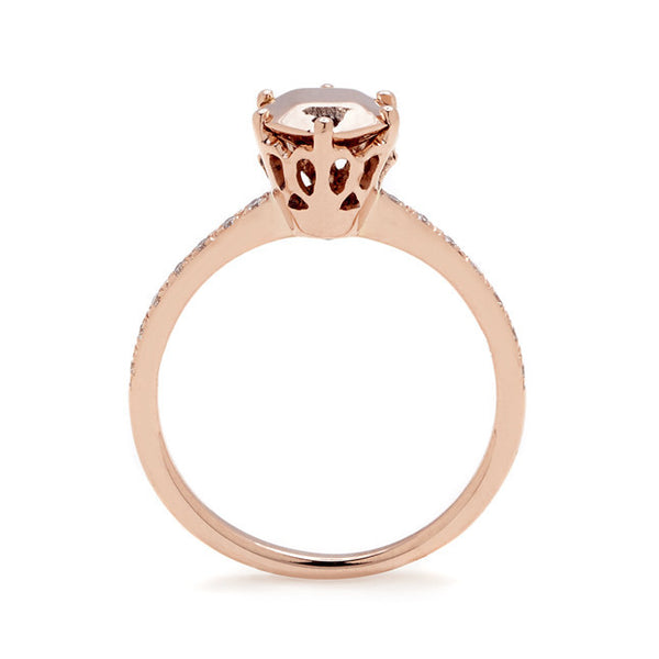 Hazeline solitaire engagement rings 14k rose gold unique affordable – Anna Sh