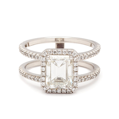 White Gold Engagement Rings Anna Sheffield Jewelry
