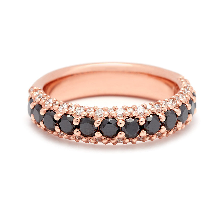 band eternity black by wedding ladies stacking diamond gold bands ring belloria