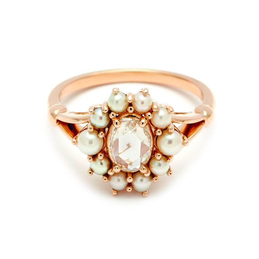 pearl with vintage pink ring pearls rings platinum in minha karat engagement gold mm and conch