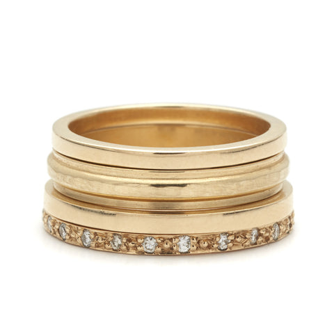 stacking suite no 01 - Stacked Wedding Rings