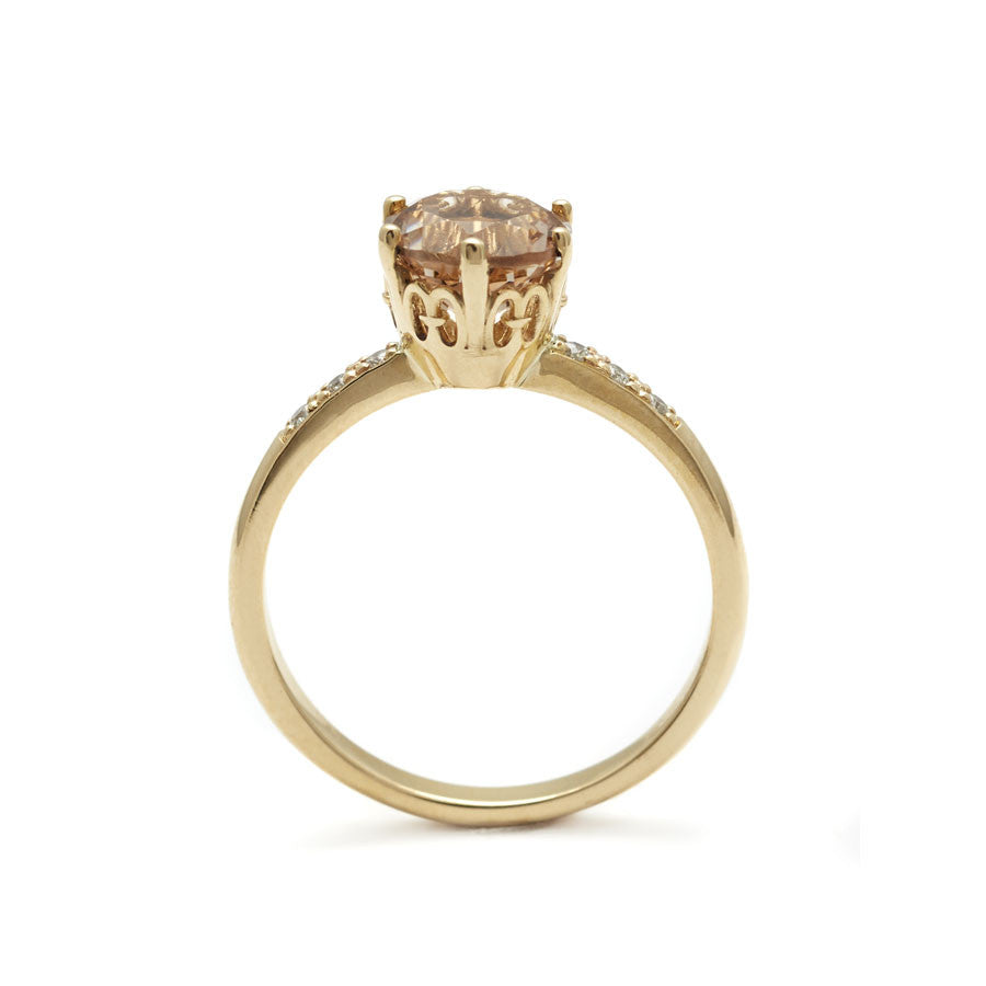 peach gold side yellow ring products solitaire hazeline morganite anna jewellery gd