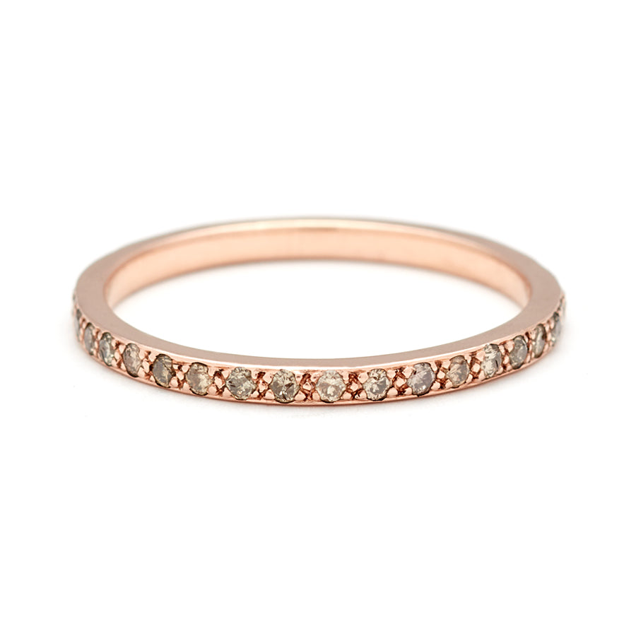 Hazeline Eternity Band Rose Gold Champagne Diamond Anna