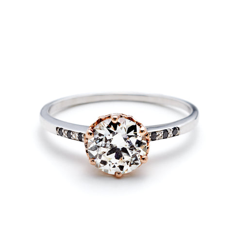 and cut harriet topaz ring rings kelsall diamond metal engagement dramatic mixed