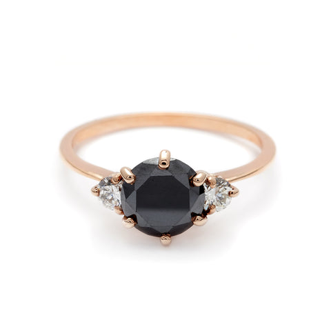 Black Diamond Engagement Rings Anna Sheffield Jewelry