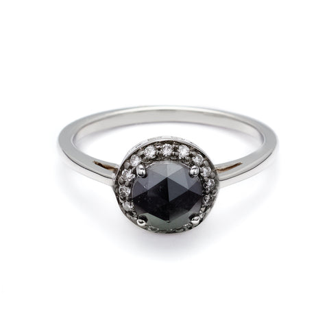 black s ring diamond barkev front engagement rings
