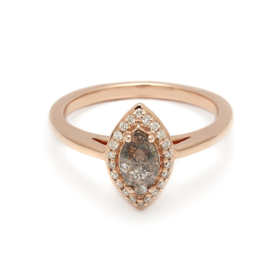 Marquise Rosette Ring  Rose Gold & Grey Diamond (40ct) – Anna Sheffield  Jewelry