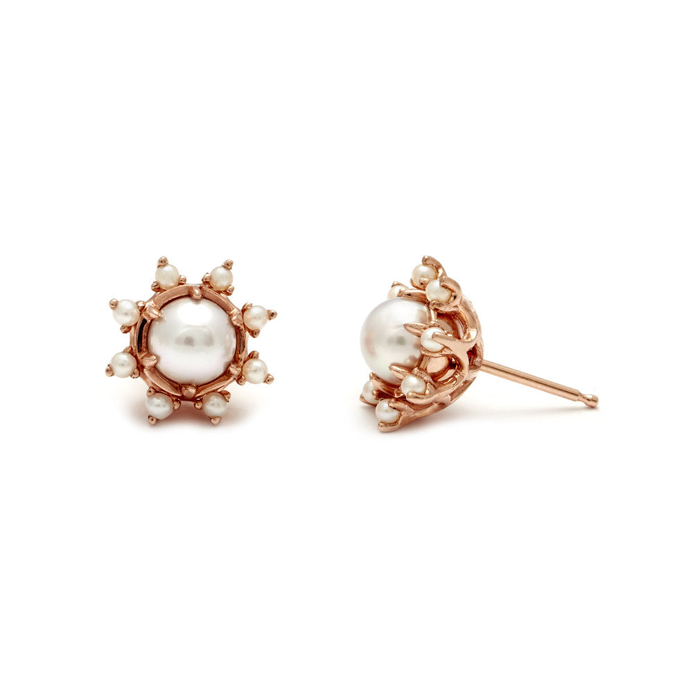 white earrings stud rollover single akoya pearl yg to zoom