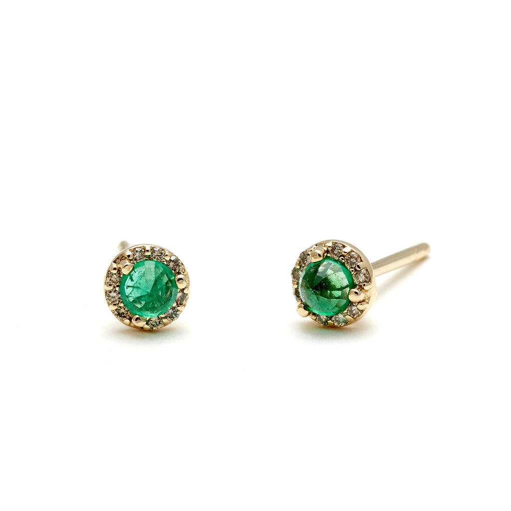 and wg nl emerald diamond green round gold daisy women stud fascinating with in for diamonds earrings jewelry shop earring online white