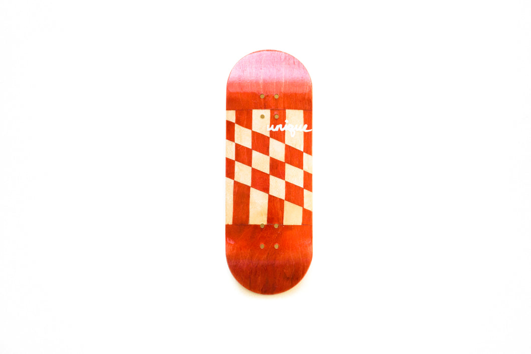 Red Checkered Flag Split Ply with Hand Painted Logo