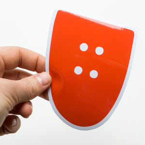 Big U Logo Sticker