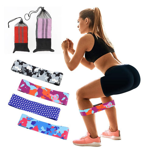 Printed Pattern Hip Resistance Bands Booty Leg Exercise Elastic Bands For Fitness Gym Yoga Stretching Training Workout Equipment - Exercise Resistance Bands