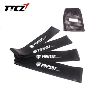 4pcs /set TTCZ Resistance Band Loop 4 Level Natural Latex For Pilates Yoga Gym Fitness Exercise With Carry Bag Strength Training - Exercise Resistance Bands