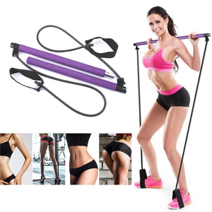 Portable Pilates Exercise Stick Yoga Exercise Pilates Stick Bar Body Workout Body Abdominal Resistance Bands Rope Puller - Exercise Resistance Bands