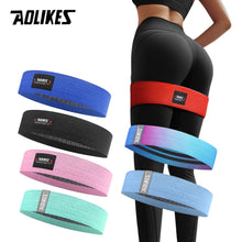 Load image into Gallery viewer, AOLIKES Unisex Booty Band Hip Circle Loop Resistance Band Workout Exercise for Legs Thigh Glute Butt Squat Bands Non-slip Design - Exercise Resistance Bands