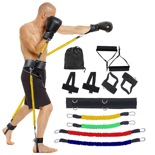 Sports Fitness Resistance Bands Set for Leg and Arm Exercises Boxing Muay Thai Home Gym Bouncing Strength Training Equipment - Exercise Resistance Bands