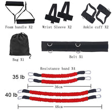 Load image into Gallery viewer, Sports Fitness Resistance Bands Set for Leg and Arm Exercises Boxing Muay Thai Home Gym Bouncing Strength Training Equipment - Exercise Resistance Bands