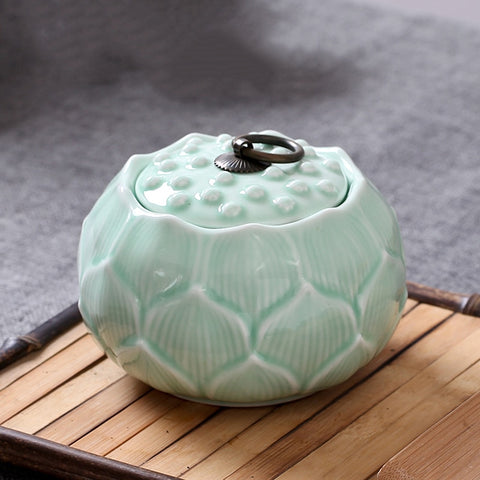 Lotus Shape Tea Storage tank