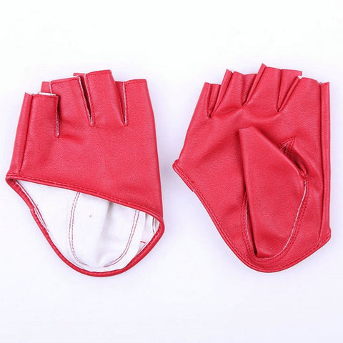 Fashion Half Finger Leather Gloves