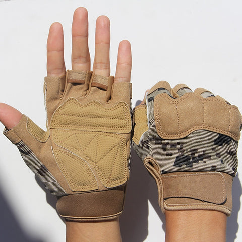 Half finger Bicycle Camouflage Gloves