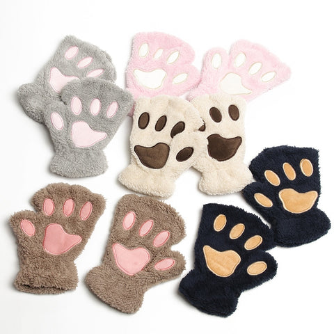 Women Animal Paw Gloves
