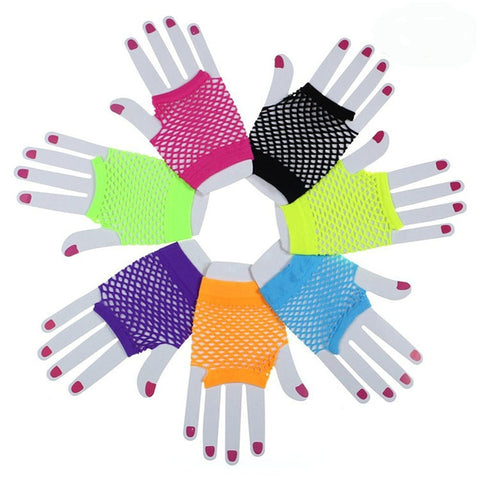 Candy colors net Gloves
