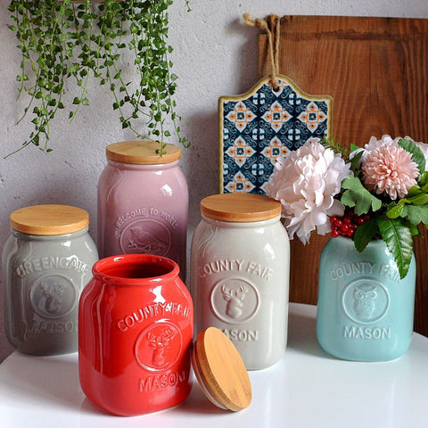 ceramic tableware storage tank